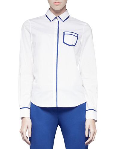 Pink Tartan Trompe Loeil Shirt-WHITE-10