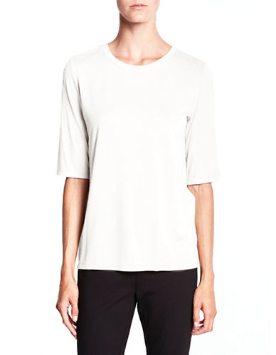 Pink Tartan Elbow-Sleeve Jersey Tee-CREAM-Medium
