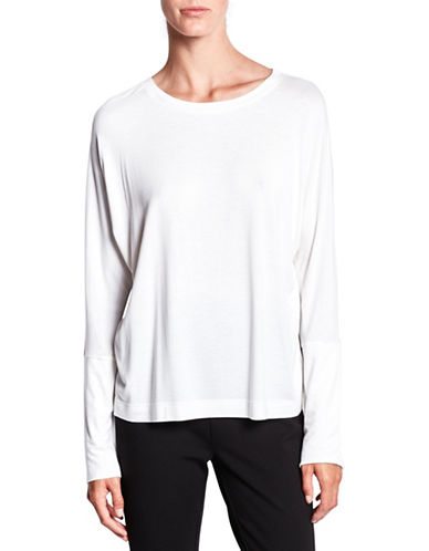 Pink Tartan Long Dolman-Sleeve Jersey Tee-CREAM-XX-Small