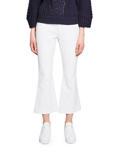 Pink Tartan Whipstitch Cropped Pants-WHITE-8