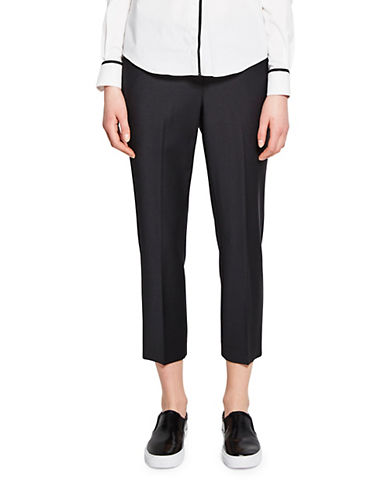 Pink Tartan Elizabeth Wool-Blend Capri Pants-BLACK-6