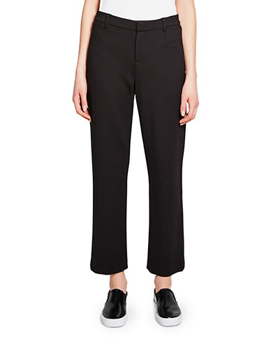 Pink Tartan Rory Stretch Cropped Pants-BLACK-0
