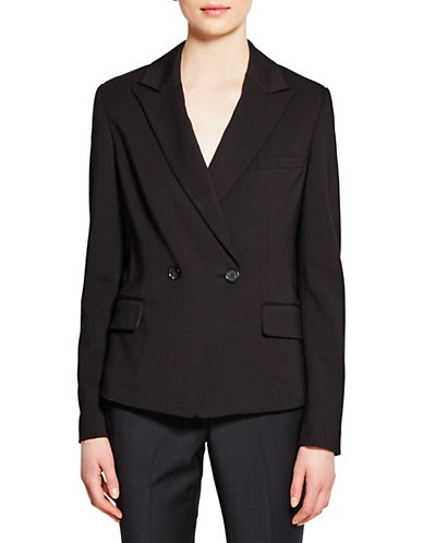 Pink Tartan Double-Breasted Tux Jacket-BLACK-8