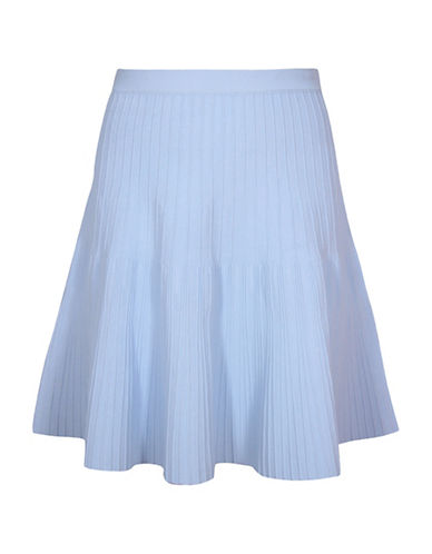 Pink Tartan Power Stretch Ballet Skirt-BLUE-Small