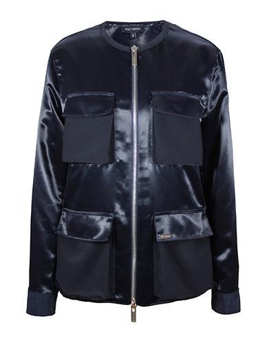 Pink Tartan Utility Jacket-BLUE-X-Small 88591807_BLUE_X-Small