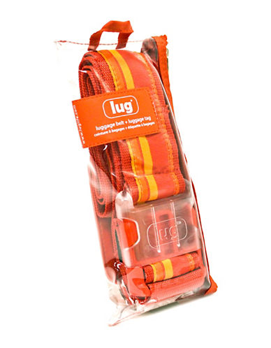Lug Striped Luggage Belt and Bag Travel Set-ORANGE-One Size