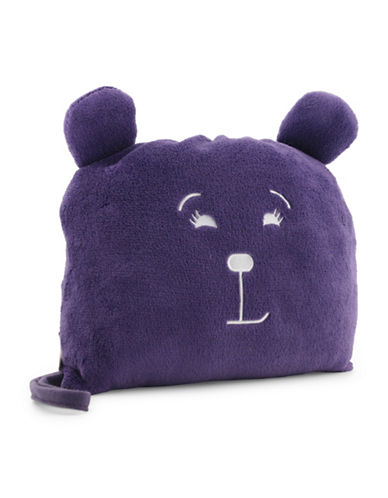 Lug Pufferton Blanket and Pillow-PURPLE-One Size