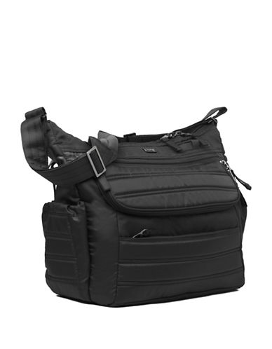 Lug Hula Hoop Carry-All Messenger-BLACK-One Size