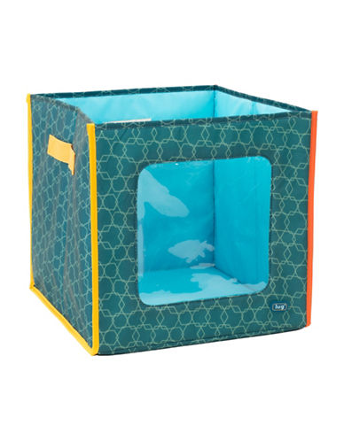 Lug Hide N Seek Storage Cube-AQUA-One Size