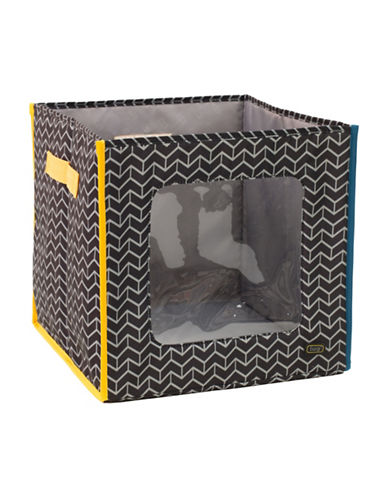 Lug Hide N Seek Chevron Storage Cube-MIDNIGHT-One Size