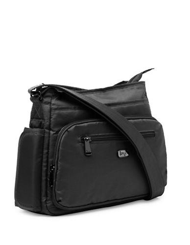 Lug Shimmy Cross-Body Bag-BLACK-One Size