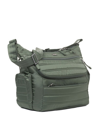 Lug Hula Hoop Carry-All Messenger-OLIVE-One Size