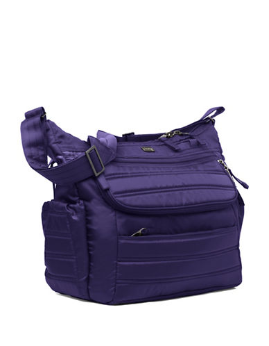 Lug Hula Hoop Carry-All Messenger-DARK PURPLE-One Size