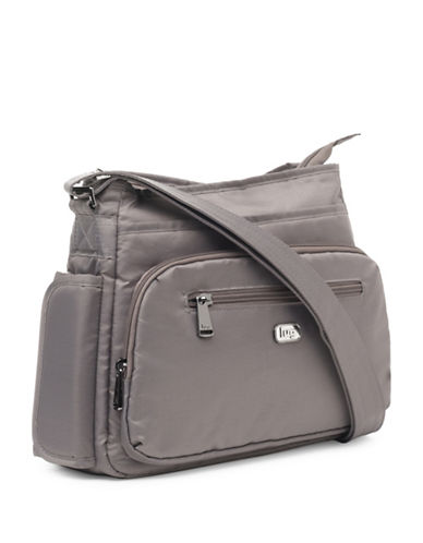 Lug Shimmy Cross-Body Bag-BROWN-One Size