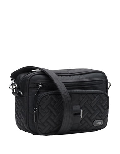 Lug Carousel RFID Protection Mini Crossbody Bag-BLACK-One Size