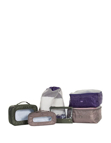 Lug Stowaway 6-Piece Packing Set-GREEN/BEIGE/PURPLE-One Size