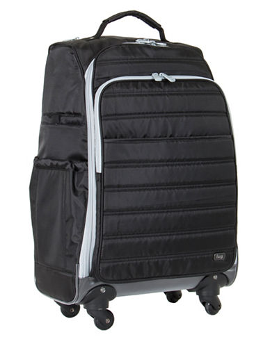 Lug Floral Cruiser Wheelie Bag-BLACK-One Size