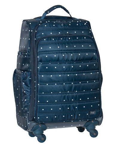 Lug Floral Cruiser Wheelie Bag-BLUE-One Size