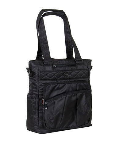 Lug Ace Dotted North-South Tote-BLACK-One Size 89224289_BLACK_One Size