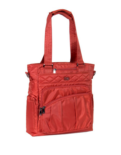 Lug Ace Dotted North-South Tote-ORANGE-One Size
