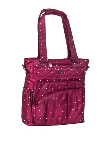 Lug Ace Dotted North-South Tote-PINK-One Size