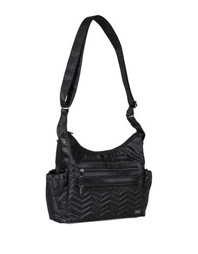 Lug Victory Camper Crossbody Satchel-BLACK-One Size