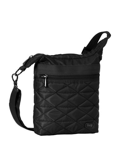 Lug Skipper Shoulder Pouch-BLACK-One Size
