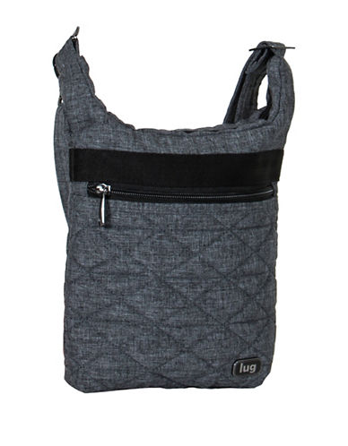 Lug Skipper Shoulder Pouch-GREY-One Size