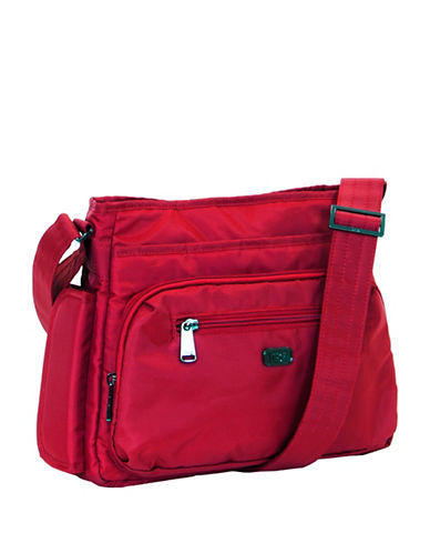 Lug Shimmy Crossbody Bag-RED-One Size