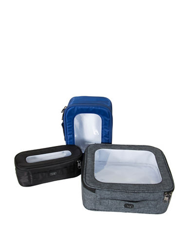 Lug Bento Box Three-Piece Container Set-GREY/BLACK/BLUE-One Size 89224259_GREY/BLACK/BLUE_One Size