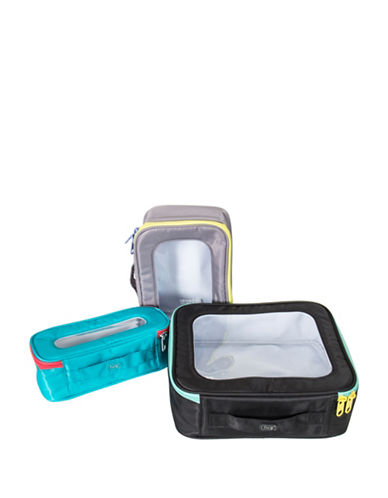 Lug Bento Box Three-Piece Container Set-GREY-One Size