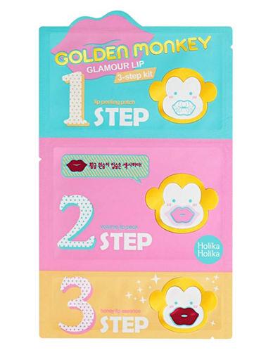 Holika Holika Golden Monkey Glamour Lip 3-Step Kit-PINK-One Size