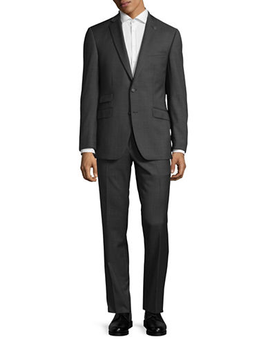 Ted Baker No Ordinary Joe Joey Slim Fit Check Wool Suit-GREY-38 Regular