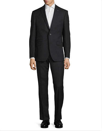 Ted Baker No Ordinary Joe Joey Slim Fit Wool Suit-CHARCOAL-38 Regular
