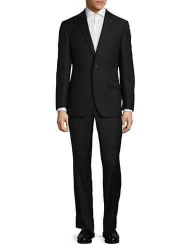 Ted Baker No Ordinary Joe Joey Slim Fit Wool Suit-BLACK-44 Short