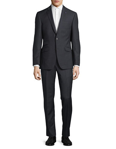 Ted Baker No Ordinary Joe Joey Slim Fit Wool Suit-GREY-42 Tall