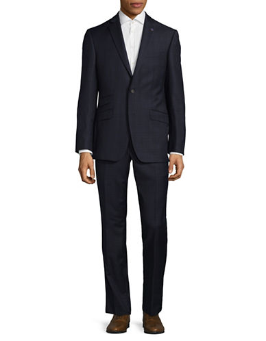 Ted Baker No Ordinary Joe Joey Slim Fit Wool Suit-NAVY-44 Tall