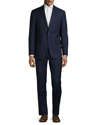 Ted Baker No Ordinary Joe Joey Slim Fit Check Wool Suit-BLUE-44 Tall