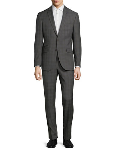 Ted Baker No Ordinary Joe Joey Slim Fit Wool Suit-GREY-44 Regular