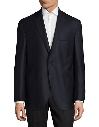 Savile Row Wool-Cashmere Sports Jacket-NAVY-40 Short