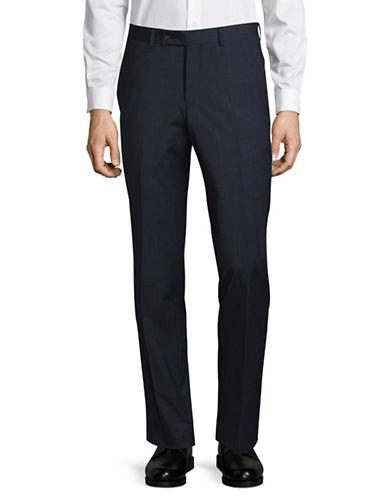 Ted Baker No Ordinary Joe Joey Grid-Check Wool Dress Pants-NAVY-36 Regular