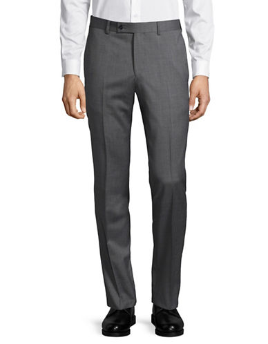 Ted Baker No Ordinary Joe Joey Wool Dress Pants-GREY-31 Regular
