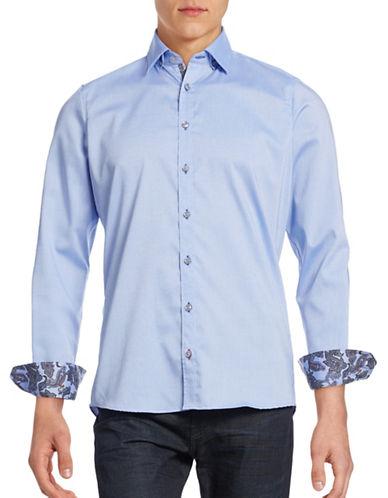 Pure Slim-Fit Paisley Sport Shirt-BLUE-X-Large