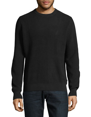 Nautica Thermal Crew Sweater-TRUE BLACK-Small