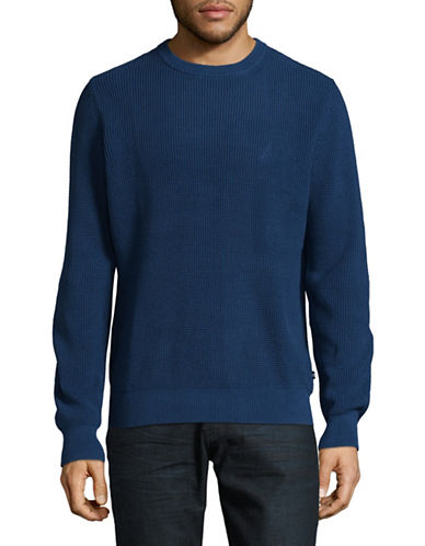 Nautica Thermal Crew Sweater-BLUE-Large