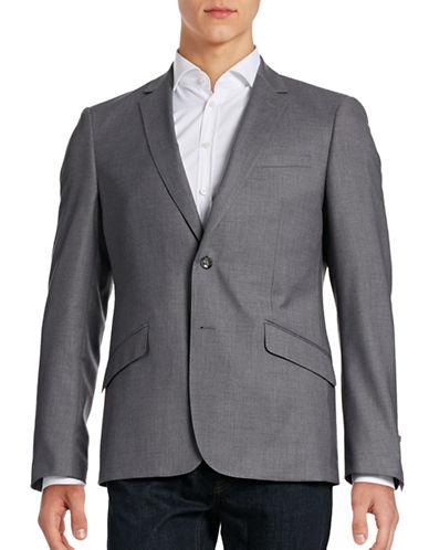 Sondergaard Slim-Fit Topstitched Suit Jacket-GREY-40 Regular