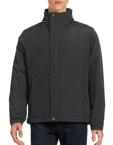 Nautica Fleece-Lined Fly Front Jacket-TRUE BLACK-X-Large 88657798_TRUE BLACK_X-Large