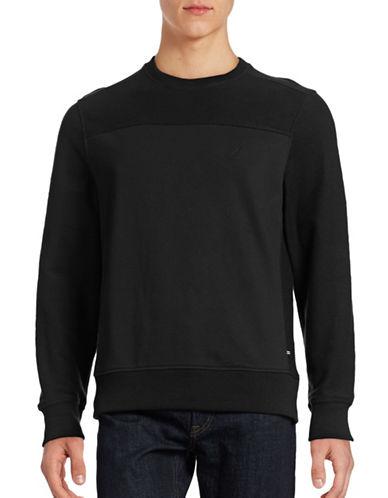Nautica French Terry Sweatshirt-PITCH BLACK-XX-Large 88535683_PITCH BLACK_XX-Large