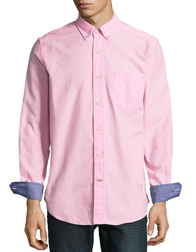 Nautica Button-Down Oxford Shirt-PINK-X-Large