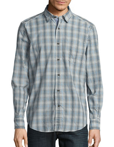 Nautica Lightweight Check Shirt-WHITE CAP-Large